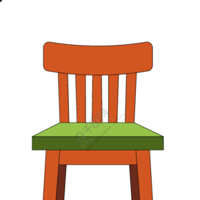 精美的家具椅子插画