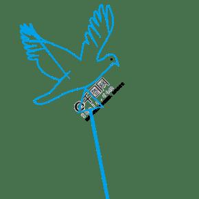 手绘蓝色的鸽子免抠图