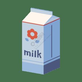 手繪卡通居家清新系列牛奶