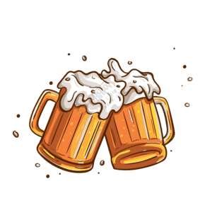 歡慶啤酒裝飾素材