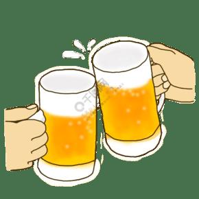 啤酒慶祝手繪素材