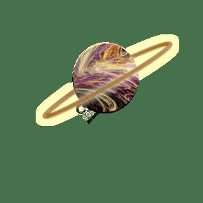 星球原创插画PNG