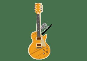 經典吉他樂器矢量畫