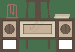 中国风复古家居系列书桌