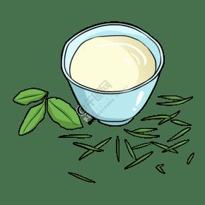 泡茶喝茶清茶插畫