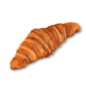 黃色面包牛角包美食美味健康寫實免扣素材