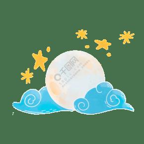 圆月矢量插画PNG