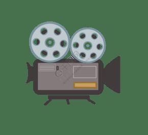 扁平风格放映机插画 PNG图片
