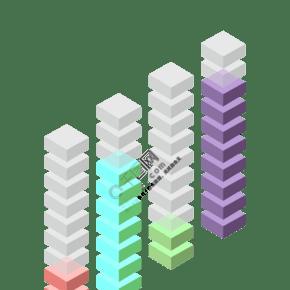 立体柱状数据图表