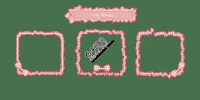 粉色的小花边相框插画
