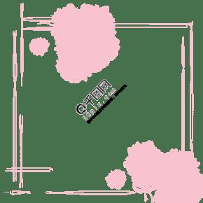 粉色的蝴蝶結邊框