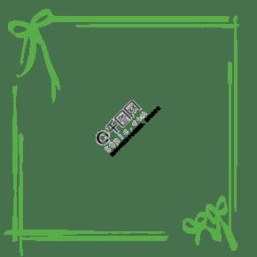 綠色的蝴蝶結邊框