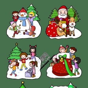 卡通圣诞节合集png透明底