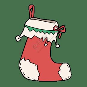 卡通手绘圣诞节圣诞袜插画