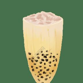 珍珠奶茶飲品手繪圖