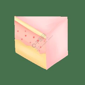 粉色蛋糕甜食甜品甜點烘焙手繪卡通PNG