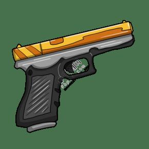 卡通黑色武器手槍