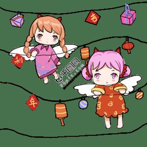 可愛小天使新春送禮