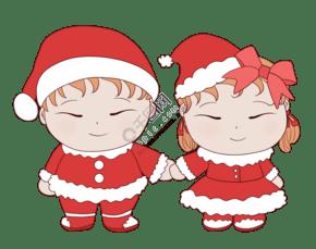 圣诞节手拉手唱圣诞歌的儿童