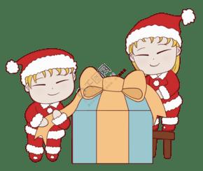 圣诞节收到礼物的可爱儿童