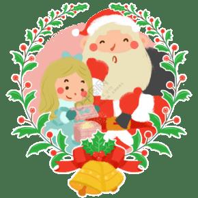 圣诞节圣诞老人圣诞礼物卡通手绘