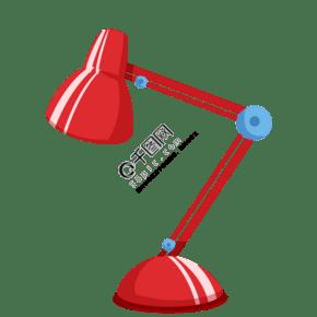 红色折叠台灯卡通插画