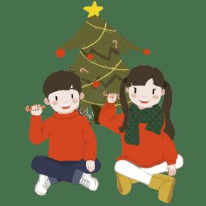 圣诞节儿童准备装扮图