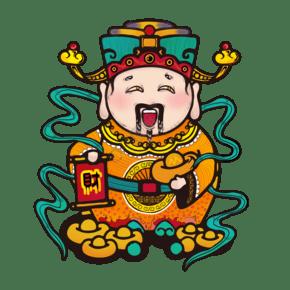 财神春节招财元宝神仙古代PNG