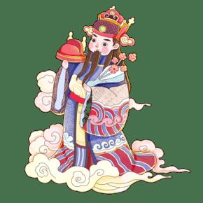 中国传统神仙月老福禄寿喜春节祝贺结婚PNG