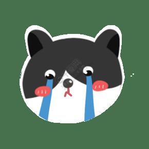 猫咪卡通手绘流眼泪委屈免抠图png