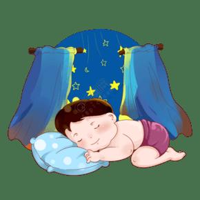 世界睡眠日宝宝安睡PNG素材