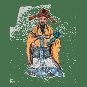 中国传统神仙福禄寿官运亨通PNG如意