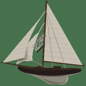 迎風起航的帆船1