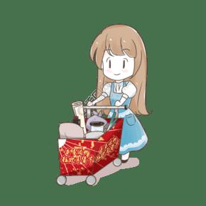 2019新年卡通人物春节