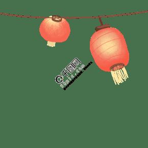 元宵节卡通手绘灯笼