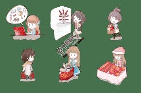 2019新年卡通人物春节套图
