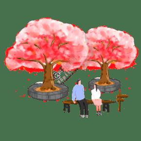 樱花树下的情人节