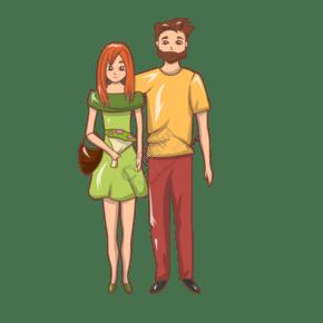 情人节拥抱的情侣