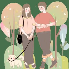 爱心树下遛狗相遇情愫暗生