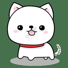 卡通形象小白狗寵物狗