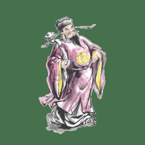 传统中国神仙福禄寿PNG如意