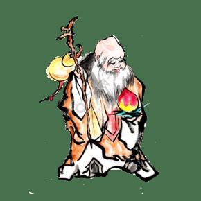 中国传统寿仙公福禄寿PNG神仙
