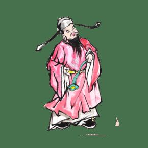 中国神仙福禄寿神仙节日祈福吉祥PNG