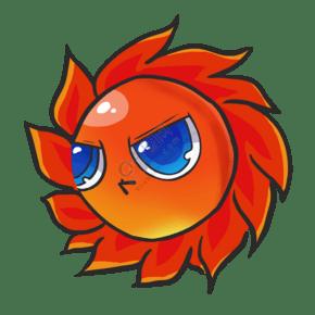 游戏版卡通太阳矢量图