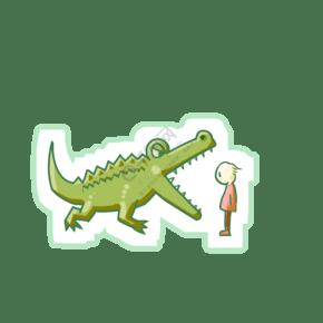 吃人的恐龙装饰插画