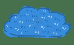 藍色刺毛兒童卡通云朵