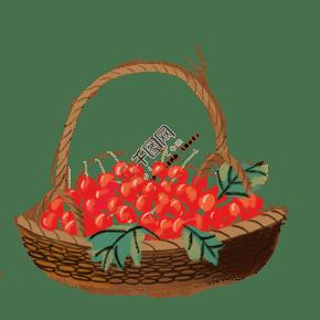 古风古典风格中国风水墨风食物矢量图