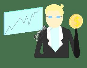 2.5d金融数据插画