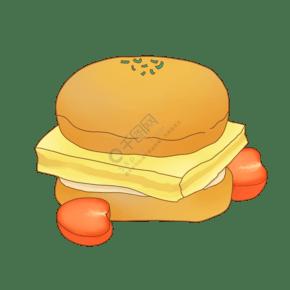 美食蛋糕面包甜點甜品店插畫卡通漫畫