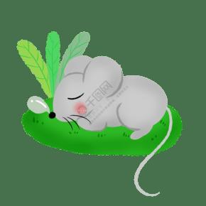 世界睡眠日睡覺的小老鼠